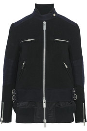 Wool and shell biker jacket
