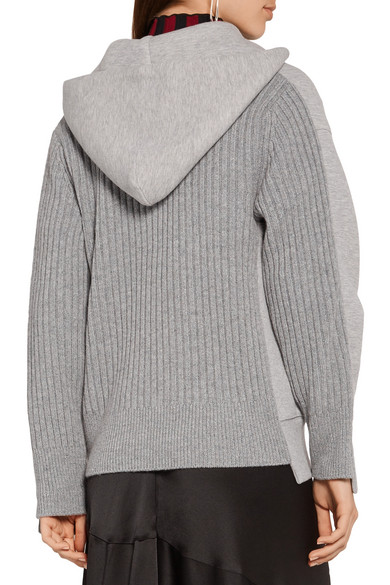 Sacai. Cotton-blend and wool-blend hooded top. $320. Play. Zoom In