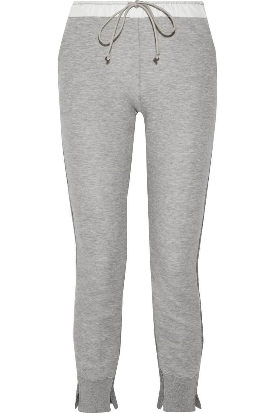 Sacai Cotton-Blend Jersey and Wool and Cashmere-Blend Track Pants, Gray, Women's, Size: 1