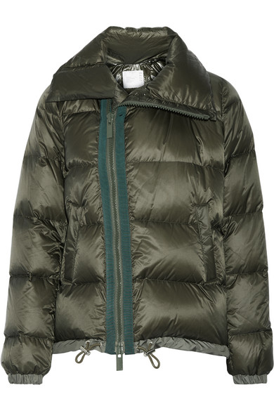 Sacai - Quilted Shell Down Jacket - Army green