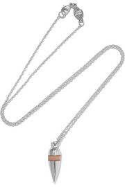 Pendulum silver opal necklace