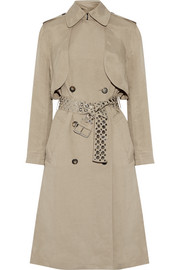 Alexander Wang Brushed-twill trench coat