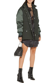 Alexander Wang Twill and satin parka