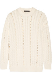 Alexander Wang Open cable-knit cotton sweater