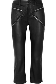 Alexander Wang Cropped leather skinny pants