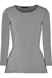 Alexander Wang Checked stretch-knit top
