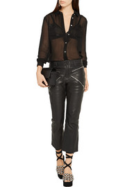 Alexander Wang Embroidered silk-chiffon blouse