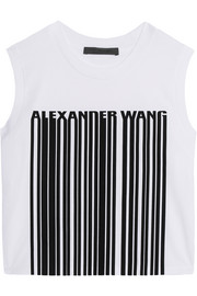 Alexander Wang Cropped printed cotton top