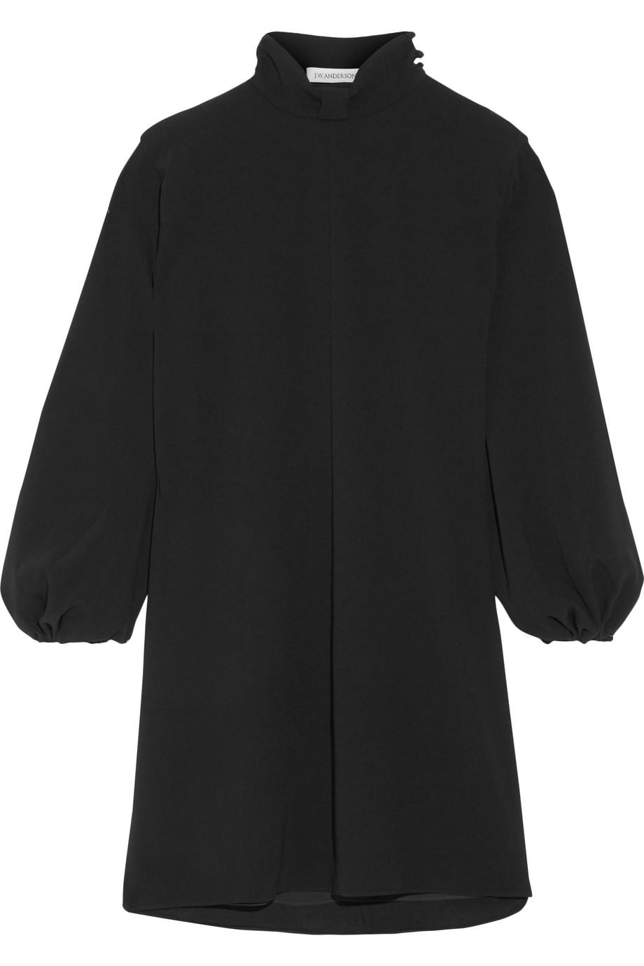 J.W.Anderson Oversized Crepe Dress, Black, Women's, Size: 14