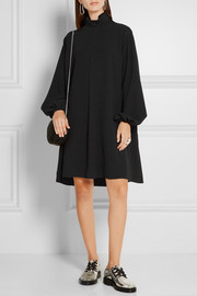 Oversized crepe dress