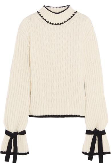 J.W.Anderson - Oversized Alpaca-blend Turtleneck Sweater - Off-white