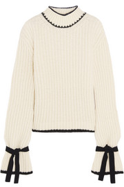 J.W.Anderson Oversized alpaca-blend turtleneck sweater