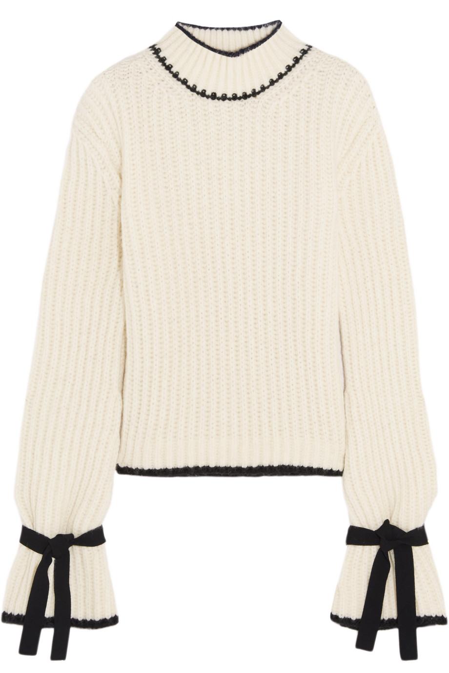J.W.Anderson Oversized Alpaca-Blend Turtleneck Sweater, Off-White, Women's, Size: L