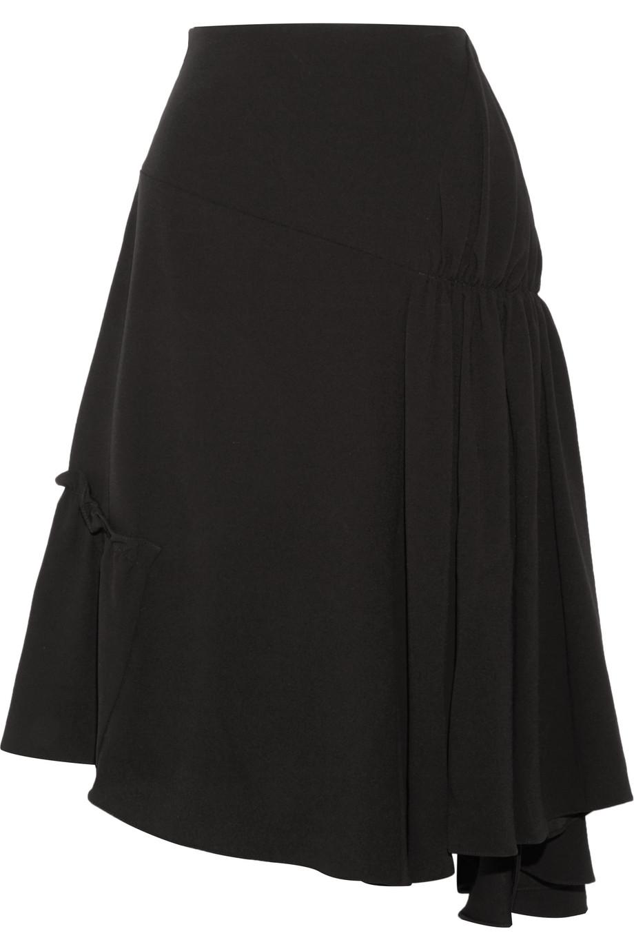 J.W.Anderson Asymmetric Crepe Midi Skirt, Size: 14