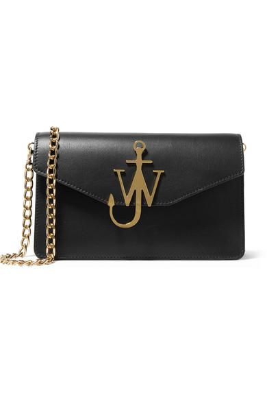 J.W.Anderson - Textured-leather Shoulder Bag - Black