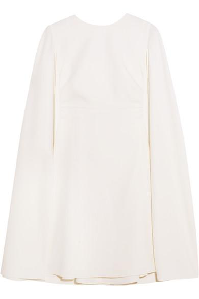 Valentino - Cape-back Wool-crepe Mini Dress - Ivory