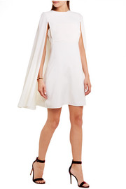 Valentino Cape-back wool-crepe mini dress