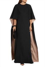 Valentino Cape-back silk-cady gown