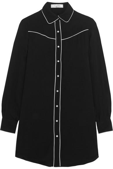 Valentino - Silk Crepe De Chine Shirt - Black