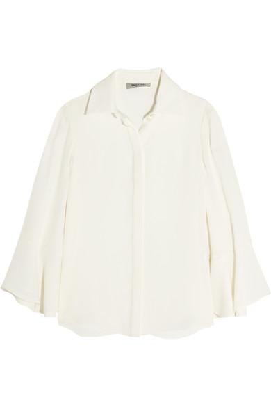 Valentino - Bell-sleeve Silk Shirt - Ivory