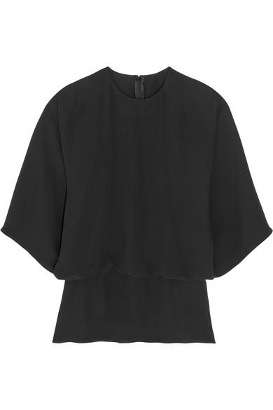 Valentino - Layered Silk-georgette Blouse - Black