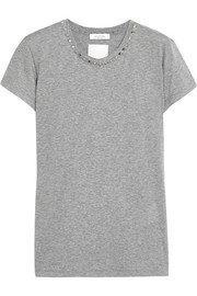 Valentino Studded cotton-jersey T-shirt