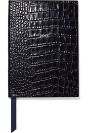 Smythson Soho 2017 croc-effect leather diary