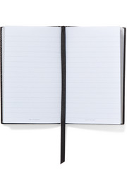 Smythson Panama Fashionably Late textured-leather notebook