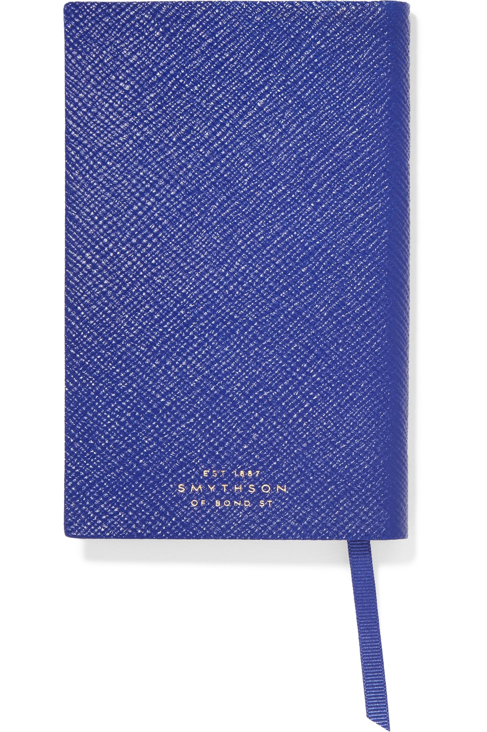 Smythson Panama Expect The Unexpected textured-leather notebook