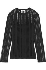 T by Alexander Wang Cutout stretch cotton-blend jersey top
