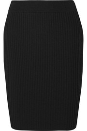 T by Alexander Wang Ribbed-knit skirt