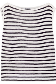 T by Alexander Wang Striped jersey tank