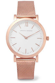 Liten rose gold-plated watch