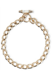 Givenchy Chain choker in gold-plated brass and marble