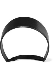 Headband in black leather