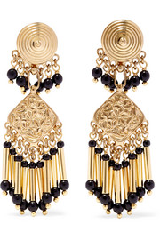 Etro Gold-plated beaded earrings