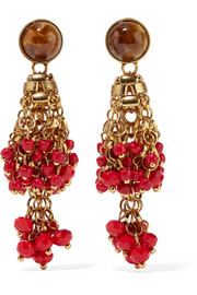 Etro Gold-plated, bead and crystal earrings