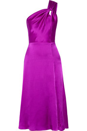Cushnie et Ochs One-shoulder silk-satin dress
