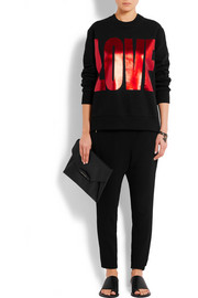 Givenchy Metallic printed sweatshirt in black cotton-jersey