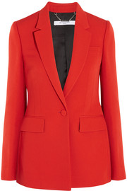 Blazer in red grain de poudre wool
