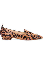 Nicholas Kirkwood Beya leopard-print calf hair point-toe flats