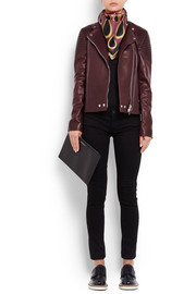 Givenchy Biker jacket in merlot leather