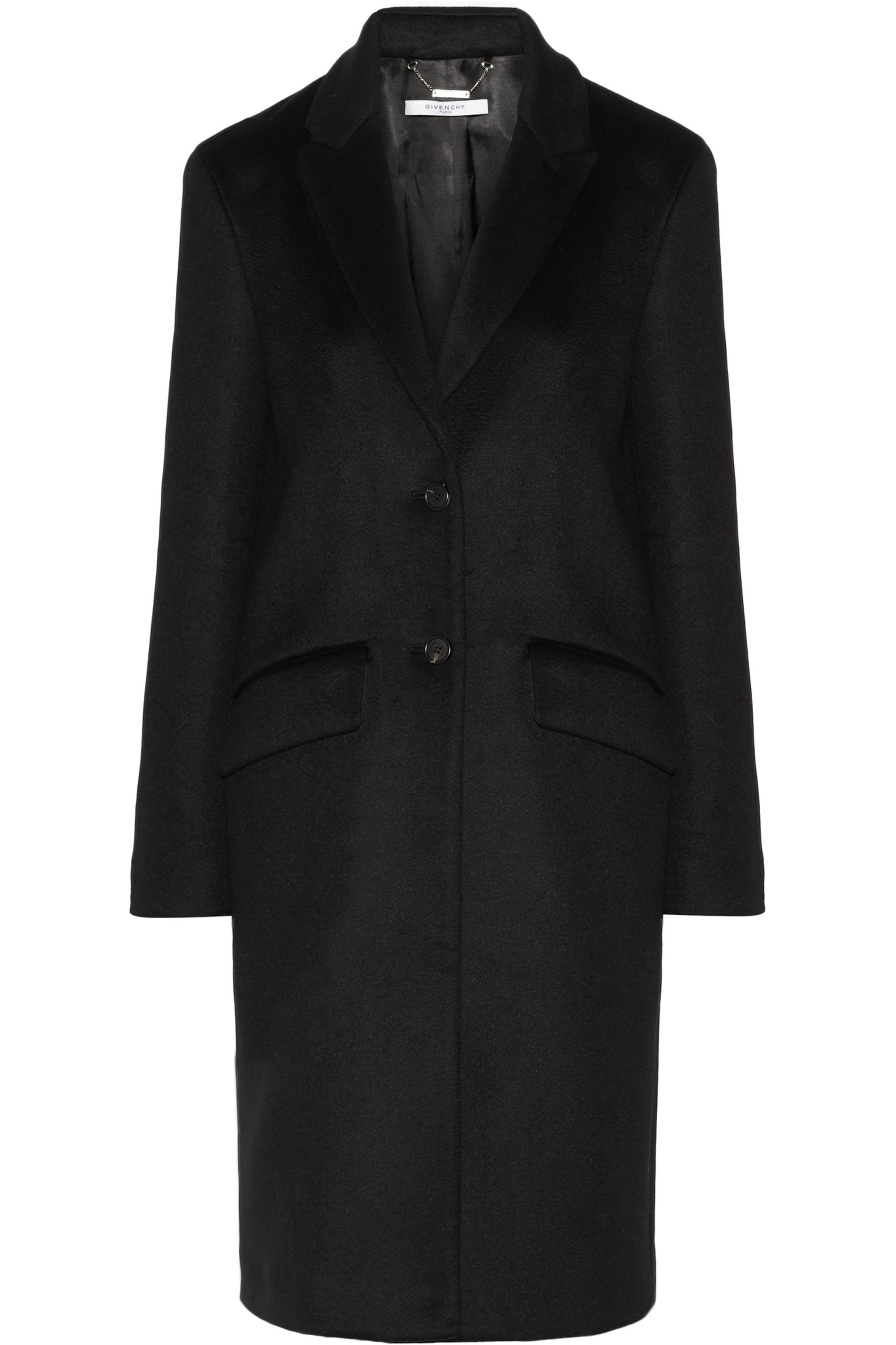 Givenchy Coat in black cashmere and wool-blend