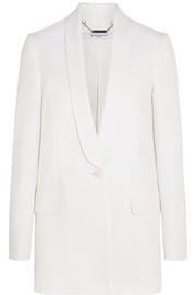Blazer in white crepe