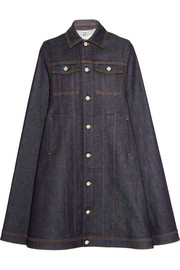 Cape in dark-blue denim