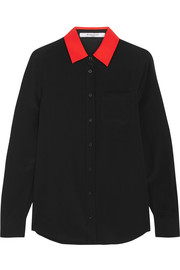 Givenchy Shirt in black silk crepe de chine