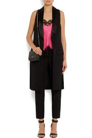 Givenchy Camisole in black lace-trimmed bright-pink silk-satin