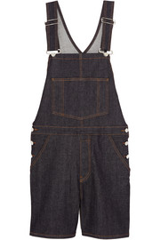 Overalls in dark-blue stretch-denim