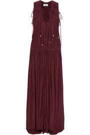 Lanvin Ruched satin maxi dress