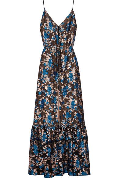 Lanvin. Metallic fil coupé gown